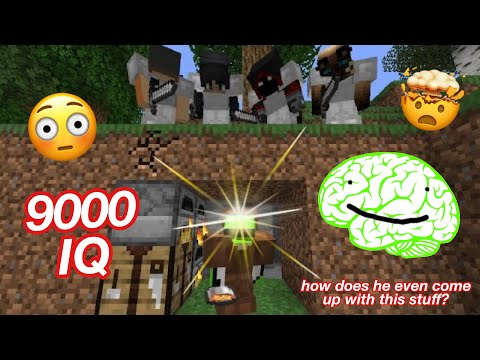 Dream's 9000 IQ moments from Minecraft Speedrunner VS 4 Hunters REMATCH