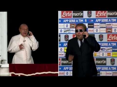 De Laurentiis ha paura di non andare in Champions, meglio affidarsi al Papa