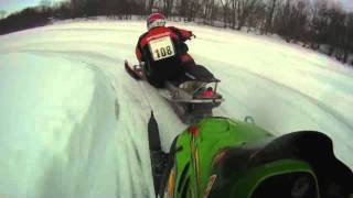 9. Arctic Cat ZR 440 Sno Pro Lakecross Practicing 1-22-11