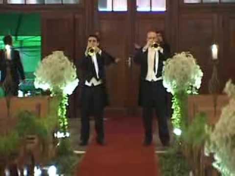 Casamento Igreja Santa Terezinha do Menino Jesus - Marcha Nupcial-Mendelsshon- 2 Trompetes Triunfais,Trios de cordas e Timpano
