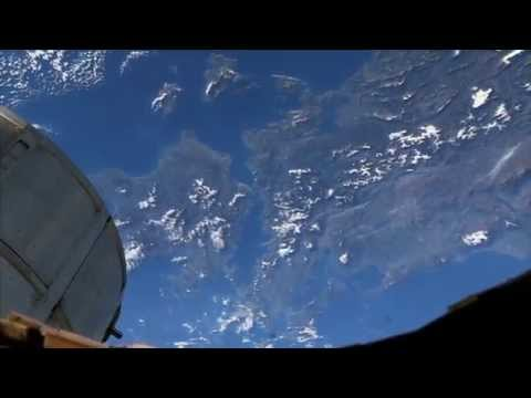 Astronauts on the ISS look down on our spinning