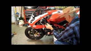 10. Ducati 1098 coolent change the easy way 848 Superbike 1198 trackday SBK maintenance
