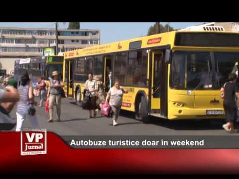 Autobuze turistice doar în weekend