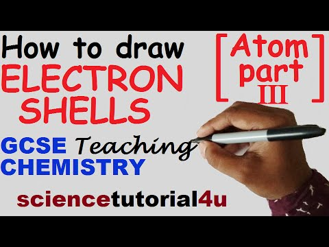 How to draw electron shells. Basic of Atom Part 3. GCSE chemistry