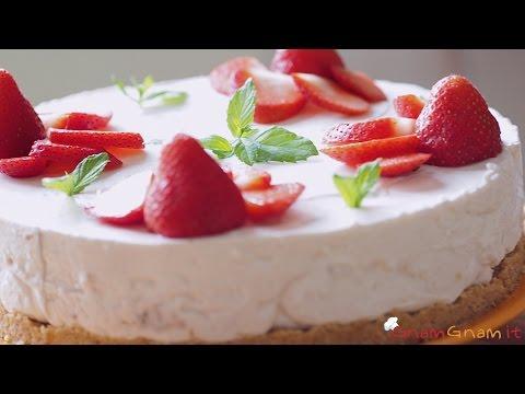 cheesecake alle fragole senza cottura - ricetta