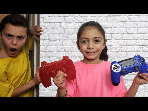 Gummy Food vs Real  switch up - HZHtube kids fun