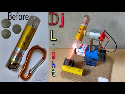dj light   How to make DJ light   How to make DJ Light at home   Simple home made dj light easy