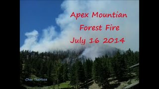 5. Forest Fire Apex Mountain  July 16 2014