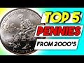 Download Lagu TOP 5 VALUABLE PENNIES FROM THE 2000'S - MODERN COINS WORTH MONEY!! Mp3 Free