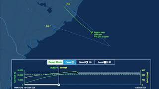Flight data show plane fall off radar southeast of Charleston