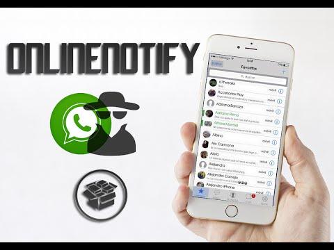 OnlineNotify - Whatsapp espía (Cydia) (Tweak) (iOS 8)