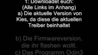 Anleitung Samsung Galaxy S Mit Odin Flashen