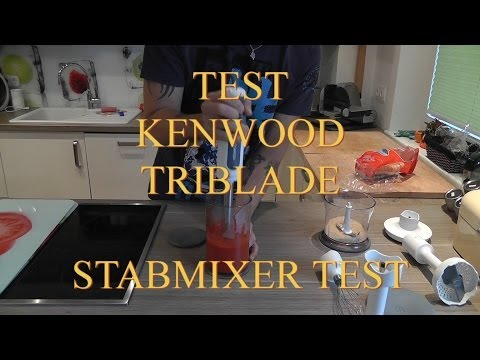 Test Stabmixer Kenwood triblade hb 724 deutsch