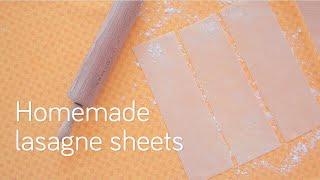 Homemade lasagne sheets