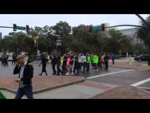 VIDEO: Protesters in St. Pete following grand jury decision in Ferguson