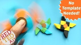 Video Easy Ninja Fidget Spinner DIY without Bearings - NO TEMPLATE needed - Paper fidget spinner DIY MP3, 3GP, MP4, WEBM, AVI, FLV Juli 2017