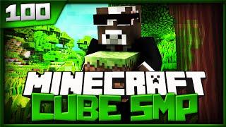 Minecraft Cube SMP - Episode 100 - Squidward Cow Prank ( Minecraft The Cube SMP )