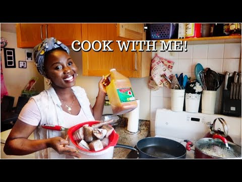 MY FIRST COOKING VIDEO // RAW COOK WITH ME// DINNER FOR 6