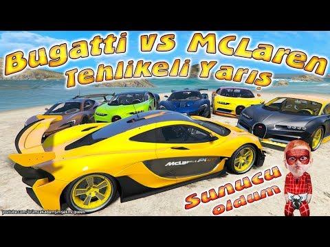 Tehlikeli Yarış Bugatticiler McLarencılar Örümcek Bebek ve Süper Arabalar Videoları