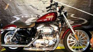 7. 2008 Harley-Davidson Sportster Low XL883L Crimson Red Sunglo