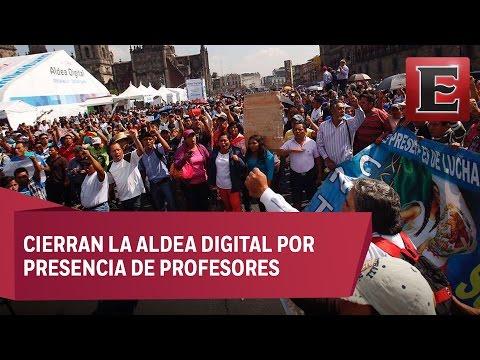 Protesta de la CNTE en el Zócalo capitalino
