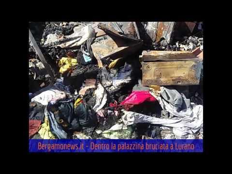 Dentro la palazzina bruciata a Lurano
