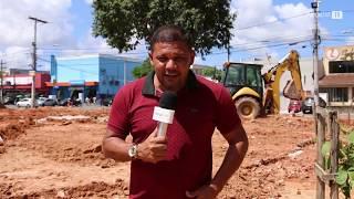 Atraso das obras de revitalização da praça João Martins, em Paripe