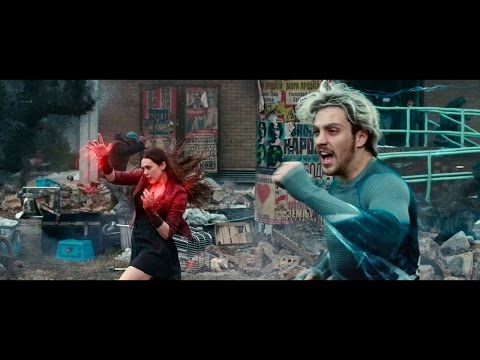 Age Of Ultron - Quicksilver Running Scenes Hd