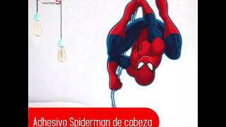 Adhesivo Spiderman de cabeza