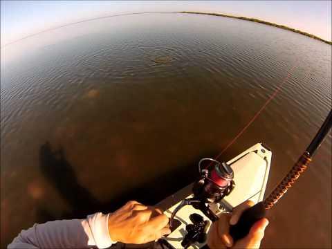 Kayak fishing for Redfish, Mosquito Lagoon – Jan 2013