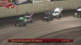 Knoxville Raceway 305 Highlights - April 21, 2018