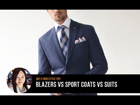 Men's Style Tips: Blazer vs. Sport Coat vs. Suits (видео)