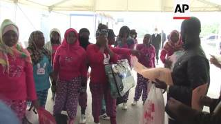 (21 Dec 2016) LEAD IN: Libya is sending over a hundred migrants back to Nigeria. STORY-LINE: At the departures hall of Tripoli's Maetiga airport, a large ...