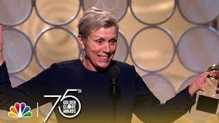 Video Frances McDormand Wins Best Actress in a Drama at the 2018 Golden Globes MP3, 3GP, MP4, WEBM, AVI, FLV Agustus 2018