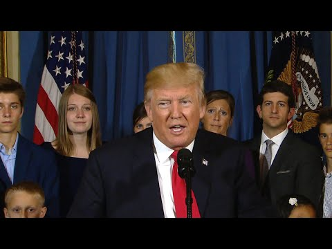 Trump delivers statement on health care