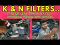 how to INCREASE milage and pickup of your BIKE..change your bike's sound..K&N FILTER..simple to fit