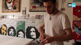 يونس الميلودي فنان شاب يحول