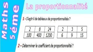 Maths 5ème - La proportionnalité Exercice 14