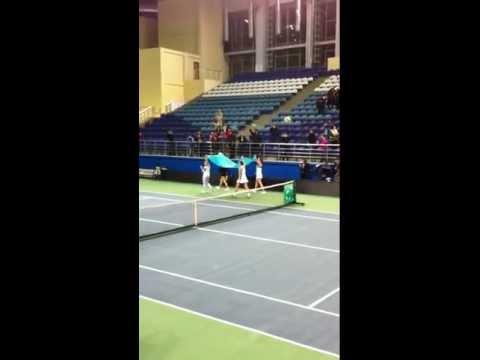 Победные эмоции женской сборной Казахстана по теннису