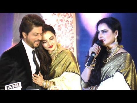 Video Emotional Rekha CRIES On Stage While Praising Shahrukh Khan Full Speech download in MP3, 3GP, MP4, WEBM, AVI, FLV January 2017