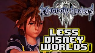 "BUT THERE IS A REASON!Source - http://kh13.com/news/there-will-be-less-disney-worlds-in-kingdom-hearts-iii-than-the-previous-numbered-title-big-hero-6-world-development-is-going-well-and-next-information-is-on-its-wayJoin the Hectic Force! - http://bit.ly/1ZZdZSYStay up to date with all my posts!Like on Facebook! http://www.facebook.com/HecticHMKFollow on Twitter! https://twitter.com/hmkillaLive on Twitch! http://www.twitch.tv/hmkillaFollow on Google+https://plus.google.com/+HMK9CAPNSupport HMK on Patreon! Awesome Rewards!https://www.patreon.com/HMKSEND ME STUFF!PO Box 612313 Miami, FL 33261VG Metal Tracks - https://www.youtube.com/channel/UCtZH-VpdKcaWq3x_4_u4FpAHMK Shirts and  Merch! - http://hectichmk.spreadshirt.com/I use XSPLIT for all my streams! If you want to get into live streaming grab Xsplit! use the code ""HMK"" for 10% off a license!https://www.xsplit.com/buy?pp=WWW_NAVBARAre You a Content Creator? Join Maker Studios Today!http://awe.sm/jJed8Royalty Free Music by http://audiomicro.com/royalty-free-musicSound Effects by http://audiomicro.com/sound-effects#KingdomHearts #KingdomHearts3 #KingdomHearts2 #KH3 #KingdomHeartsIII"