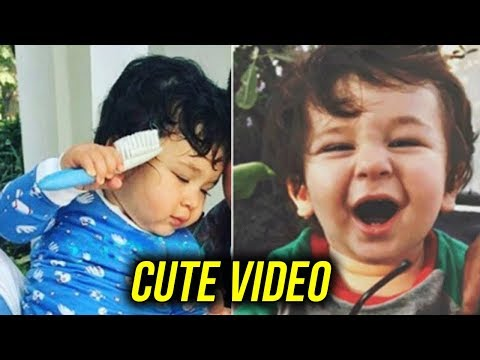 CUTE Taimur Ali Khan COMBS His Hair | Kareena Kapo