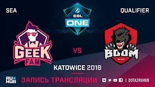GeekFam vs BOOM ID, ESL One Katowice SEA, game 2 [Mila, LighTofHeaveN]