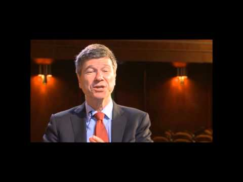 development goals - Interview with Jeffrey Sachs, Director of The Earth Institute at Columbia University.