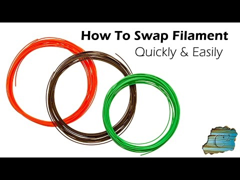 How to Swap 3D Filament - Quickly & Easily on Wanhao i3 Plus or Any Other Direct Drive Printer