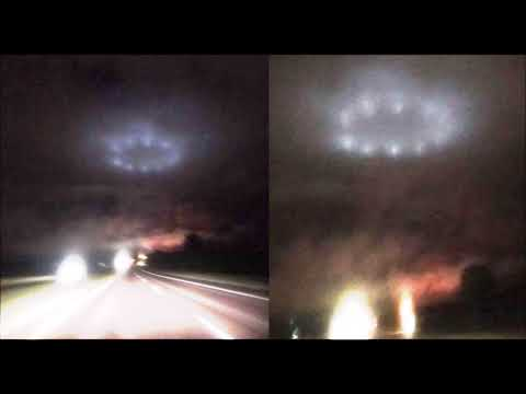 Eerie Ring of UFO Lights over Minnesota captured by several witnesses (видео)