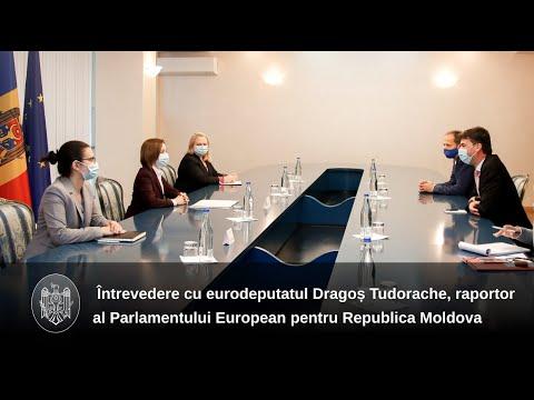 Președintele Maia Sandu a avut o întrevedere cu europarlamentarul Dragoș Tudorache