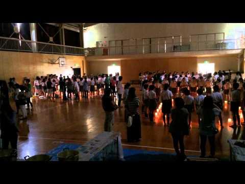 緑井小学校ピースキャンドル2015