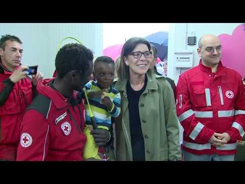 Espace mères enfants au sein du camp de migrants de Vintimille