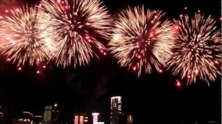 National day fireworks in Hong Kong 香港